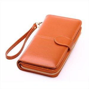 Leather Women Wallets Women Purses Fashion Long Zipper Womens Wallet Money Coin Holder Female Long Purse Female Purse Zipper