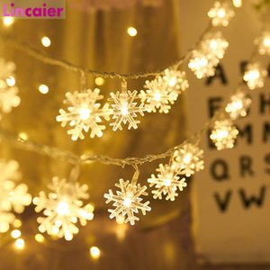 3M 20LED Snowflakes String Fairy Lights Battery Powered Hanging Tree Ornaments 2020 Merry Christmas Decoration For Home New Year