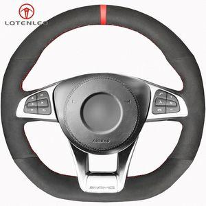 Black Suede крышки рулевого колеса для Mercedes Benz A45 AMG W205 C43 C63S CLA45 CLS63 GLC 43 C63 AMG GLE43 YFfo #