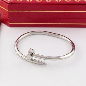 패션 티타늄 스틸 두꺼운 손톱은 남성에 대한 여성의 더 다이아몬드 팔찌 팔찌 없다