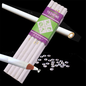 40 pcs White Sticky Pencil 176*8mm Sewing Tools Accessory Student Office DIY Hand Tools Diamond Drawing DIY Pencil Y200709