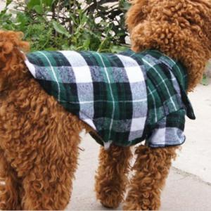 Haustier-Welpen-Shirts Sommer-Plaid Hunde-Bekleidung Mode-Klassiker Hemd Baumwollkleidung Kleine Hunde-Bekleidung Billig-Haustier-Kleid XS-XL DBC DH0986