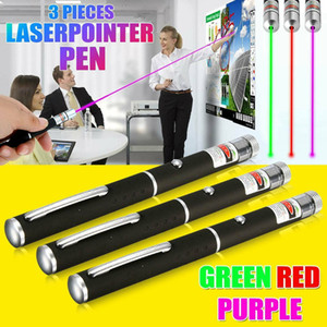 3Colors 900Miles Green&Red&Blue Violet Laser Pointer Pen 650 532 405nm Powerful Visible Lazer Beam Light Cat Toy Light