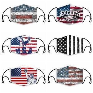 6 diseños 3D impreso UA bandera nacional de los hijos adultos se enfrentan transpirable máscaras a prueba de polvo anti-niebla y máscaras protectoras lavables OWB1183