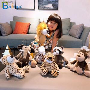 Babiqu 25cm 인기 숲 동물 봉제 인형 봉제 정글 시리즈 동물 코끼리 사자 원숭이 얼룩말 기린 장난감 어린이 선물