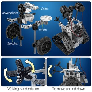 2020 Горячий стиль 408PCS City Творческий RC Robot Electric Building Blocks Technic дистанционного управления Интеллектуальный робот Кирпичи игрушки для детей