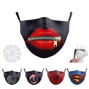 Batman Spiderman Captain America super-héros visage de luxe design adulte masquer masques Party cosplay réutilisable poussière coton coupe-vent Masque de fête