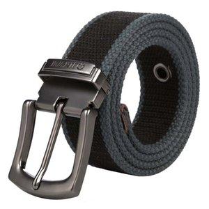 Men Alloy pin buckle canvas belt high quality canvas belt outdoor casual weaving Men and Women 110-150 cm