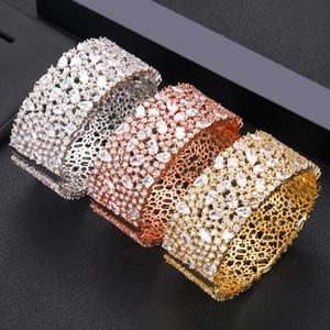 Janekelly design haut accessoires de mode unique bracelet main pave micro zircons bijou avec la livraison gratuite