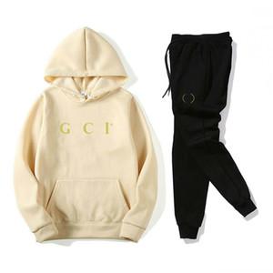 GUCCI Mens Treino agasalhos alta qualidade Suit Jogger Sporting Casacos com capuz + calça Designer Primavera Outono Mulheres Fatos