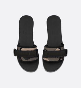 Early Spring 2021 Flip-flops con cuero casual 35-40 tamaños azul negro