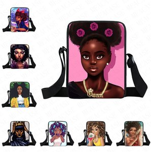 35 цветов Afro девушка рюкзаки Мультфильм Fanny Pack кошелек Crossbody Сумка Дети Дети Студенты одно плечо Сумки Tote Spotrs D8505