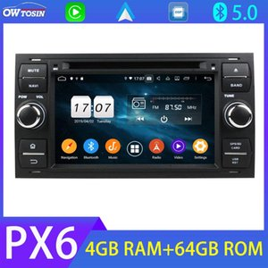Bluetooth 5.0 Android 10 PX6 4G+64G 4G SIM For Kuga S-Max Focus Mondeo Transit Connect GPS Radio CarPlay DSP Parrot BT DAB car dvd