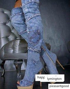 calçados OllyMurs mulheres Sandals Denim costura