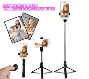 tripod Selfie Stick Bluetooth control mini Extendable Handheld with Bluetooth Remote Shutter for iPhone Android mobile selfie tripod