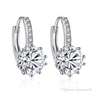 Ventas al por mayor de joyería Pryme plaza de Venta cristalinos del perno partido de las mujeres Errings reina el color 10