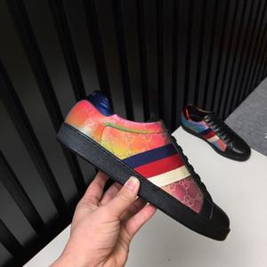630 роскошных 2019 Новая мужская обувь кожа дышащие кроссовки Luxury Lo-Top Sneakers Дизайнерская продажа Мужчины Марка Обувь Casual