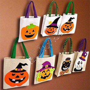 Halloween-Kinder Süßigkeit-Geschenk-Beutel-Kind-bewegliches Karikatur-Kürbis-Hexe-Geschenk Handtaschen-Jungs-Mädchen-Halloween-Kostüm-Party-Zubehör D81802