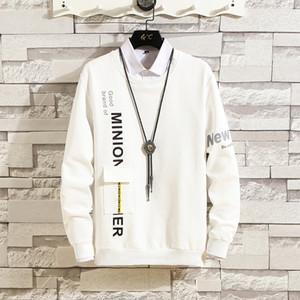 2020 Spring Autumn New Fashion Letters Sweatshirts Hoodies Men Loose Fit Long Sleeve Men Hoodies Casual Hip Hop Streetwear Mens