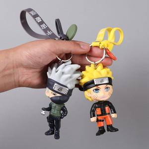AnimeHot New Naruto Keychain Sasuke itachi Kakashi Key Chain Pendant Anime Cartoon Key Ring Naruto Ring Men Keyring