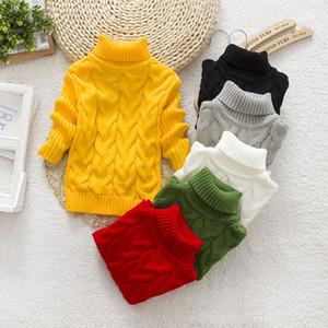 INS Baby Kinder Kleidung Strick Hoch-Ansatz Hülse Lange Warming Pullover, Strickkleidung Pullover