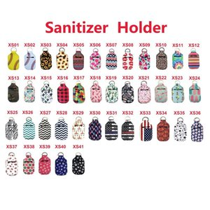 153 Cores 30ml Hand Sanitizer Titular Neoprene Keychain Mini Garrafa tampa Cor Branco Rectângulo Chapstick Titular
