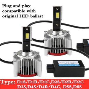 1 Set 70W 15200LM 6000K D1S D1R D2S D2R D3S Car led headlight bulb canbus No Error D4S D4R D5S D8S light auto lamp Replace xenon bulbs