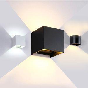 12W Modern Breve Rodada Cube Superfície Ajustável Montado LED Outdoor Wall Light Waterproof arandela Lâmpada Para Corredor Porch