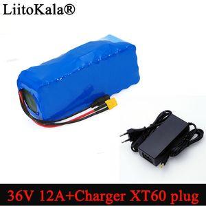 atteries Packs batterie 36V 12Ah Liitokala 18650 Li ion rechargeable haute puissance XT60 prise voiture Balance moto vélo électrique Scooter ...