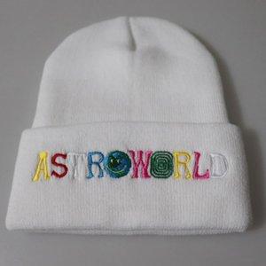 2020 Unisex Hiphop Beanie Autumn Winter Wool Blends Soft Warm Knitted Cap Men Women SkullCap Hats Gorro Ski Caps ASTROWORLD Street Hat