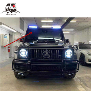 2019 year G class W464 B style carbon fiber roof spoiler for G63 G65 G500 G400 G350 wing with led drl lights