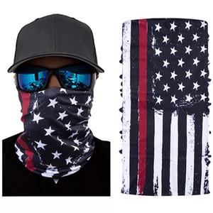 Sport Masken Amerika-Flaggen-Masken-Schal-Fahrrad-halbe Gesichts-Cover Design Face Shield Radfahren Außengesichtsmasken Wasserdicht Kopftuch YFALS2096
