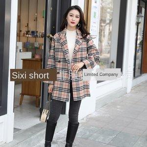 Takım için JdIU0 Dan Yafei yeni ceket kadınlar çift taraflı kaşmir küçük açık renk babuge çift taraflı kaşmir palto