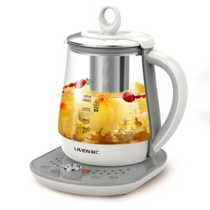 1.8L Large Capacity Glass Health Pot Multifunction Cooking Soup Electric Kettle Stainless Steel Heating Base