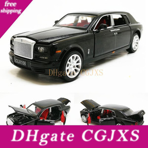 1: 32 Rolls Royce Phantom Extended Лимузин сплава Diecast Игрушка металла автомобиля Модель автомобиля Дети Коллекция подарков Бесплатная доставка