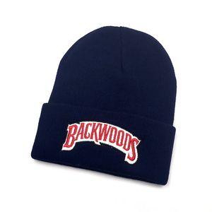 New Beanies backwoods lettering Cap Men Women Warm Knitted Wool Hat Fashion Solid Hip-hop Beanie Hat Unisex Cap