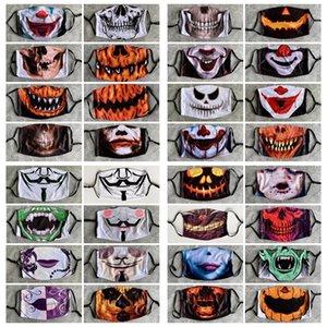 Дети Хэллоуин Spoof Маски 3D тыквы Клоун Череп Хэллоуин маска Регулируемая Mouth Маска Анти пыли Многоразовый моющийся Face Cover DHD1468