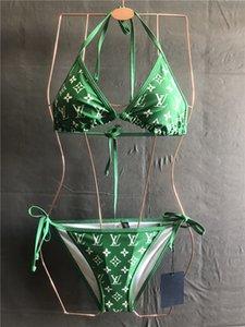 20SS new2019 Новый бикини Sexy Leopard бикини Установить Купальники Женщины Холтер Купальники Купальник для женщин Thong Bikini