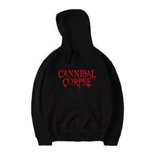 Brutal Death Metal Cannibal Corpse camisola do Hoodie Nome do logotipo da faixa de impressão de moda de algodão homens capuz CANNIBAL CORPSE Hoodie