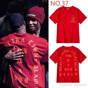 2020 Kanye Mens T-shirt high-quality trend ladies with label hip-hop kids alliance see