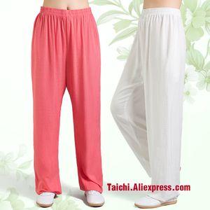 Linen Tai Chi Pants Wu Shu, Yoga 9 couleurs, S-XXXL