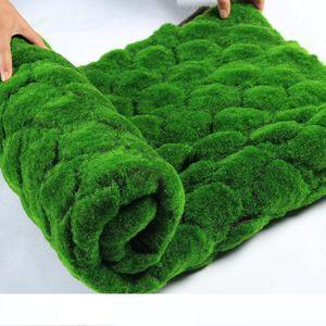 100 * 100cm artificiale Moss finte piante verdi Turf Mat Faux Moss parete dell'erba per Home negozio Patio Decoration Vegetazione