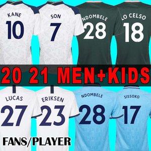 FÃS / JOGADOR 20 21 KANE BERGWIJN Soccer Jersey Tottenham Hotspur camisa de futebol 2020 2021 Camisa LUCAS DELE SON 20 21 NDOMBELE uniformes homens + crianças conjuntos