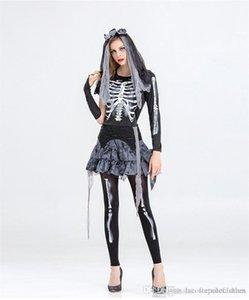 Clothes The Skeleton Bride Cosplay Dress Designer Funny Dress Party Women Theme Costume Halloween Day Womens