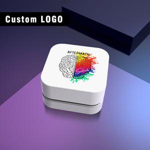 큐브 플라스틱 뚜껑이있는 사용자 정의 5ml의 작은 유리 병 검정, 흰색 브랜드 로고 소량의 왁스 유리 항아리 파이렉스 유리 식품 허브 농축 용기