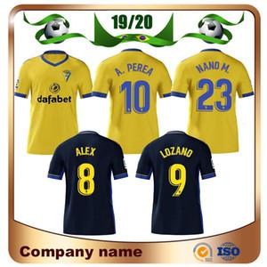 20/21 كاديز الرئيسية لكرة القدم جيرسي 2020 # 9 LOZANO # 10 A.PEREA كرة القدم قميص بعيدا موحدة BODIGER I.ALEJO JUAN CALA ALEX كرة القدم