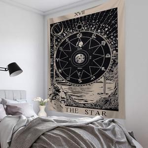 Coperta Tarot Card Tapestry Wall Hanging Astrology Divination Copriletto della casa Decorazione della casa Spiritual Art Stregoneria