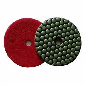 ST13 Сухие Полировка колодки 3 дюйма 4 дюйма Алмазный полировальный диск 3 Step Сухие колодки для гранита мрамора 10шт SCJr #