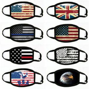 Flag Civilian Washable Printing Mask Industrial Dustproof And Haze Proof Mask Replaceable Element Masks Adjust Face Shield#598