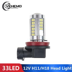 Vehemo Headlamp 33LED Super Bright DC12V White LED H11 H8 Driving Light Fog Car Light SMD5630